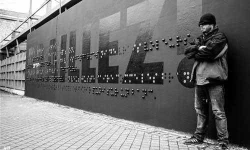 Bordeaux dévoile une œuvre de street-art en braille
