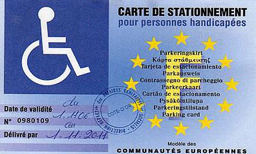 Carte européenne de stationnement