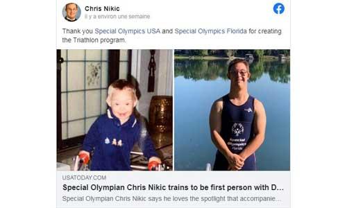 Chris : le 1er sportif trisomique à achever un Ironman?