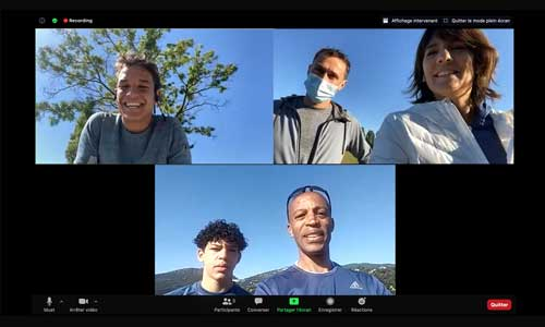 Courir 21 km à l'aveugle: Diagana et Denis relèvent le défi