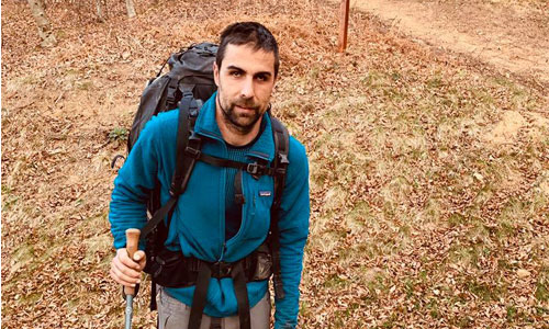 David Labarre : trek de 213 km à l'aveugle... et en braille !