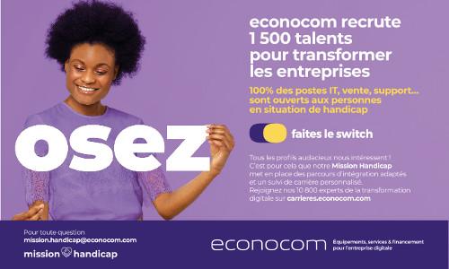 Econocom s'engage : intégrez un Groupe handi-accueillant !