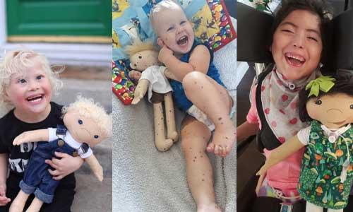 Elle crée des poupées handicapées à leur image