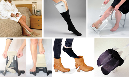 Enfiler ses chaussettes, ses bas ou ses chaussures