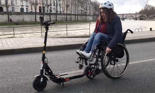 GlobeTrotter : un fauteuil électrique via une trottinette
