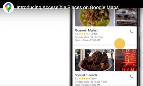 Google maps repère 15 M de commerces accessibles en fauteuil