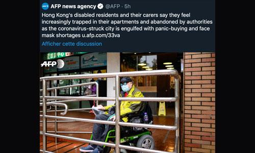 Hong Kong: trouver un masque, impossible en cas de handicap?