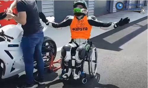 Paraplégique et motard : Daniel dévoile ses adaptations