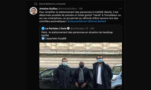 """Paris : un ticket """"Handi"""" pour stationner gratuitement"""