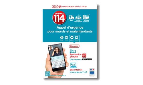 L'appli 114 en cas d'urgence pour les sourds est lancée !