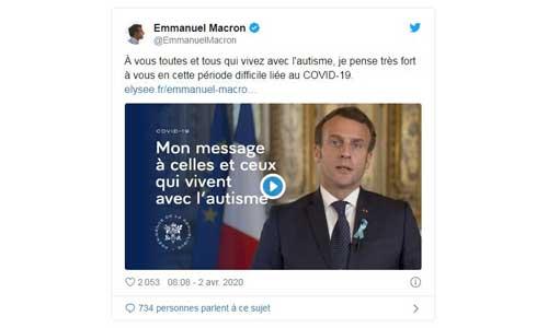 Macron : aménagement du confinement pour certains handicaps