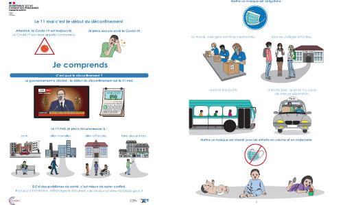 Pandémie Covid-19 : des fiches en FALC
