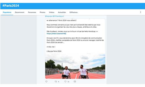 Paris-2024 : des emplois pour les personnes handicapées ?