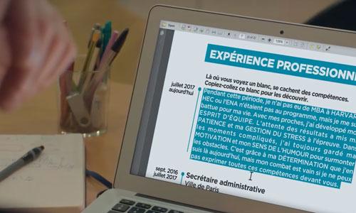 Période d'inactivité en cas de maladie: le CV qui valorise !