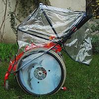 Protection pluie pour fauteuil roulant