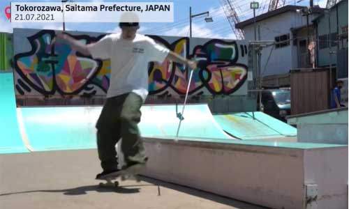 Skateur aveugle, il défie les rampes avec sa canne