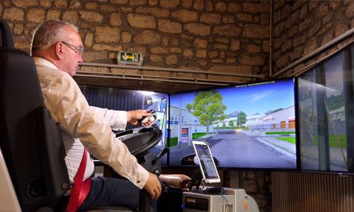 Transport routier : des simulateurs de conduite adaptés