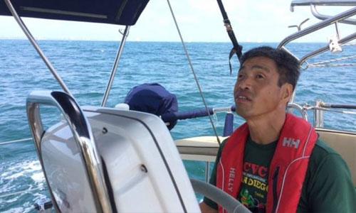Un Japonais aveugle traverse le Pacifique