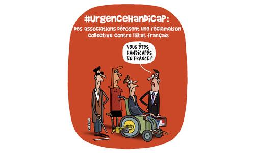 Urgence handicap : dépôt de plainte contre l'Etat français