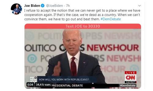 USA: le candidat démocrate Biden évoque son bégaiement