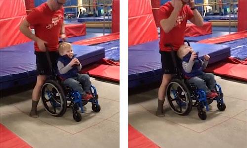 Wyatt, 4 ans : son premier saut en trampoline émeut la toile