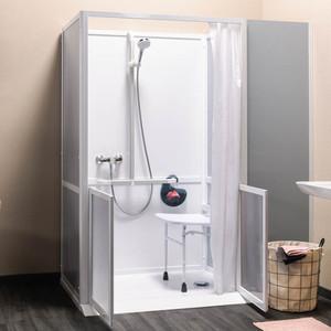 Cabine de douche intégrale accès en façade (image 1)