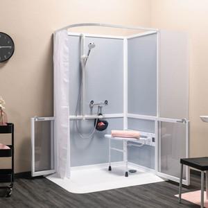 Cabine de douche intégrale accès en angle (image 1)