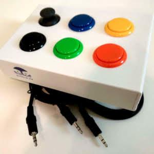 Mini boitier gaming - combo 1 joystick / 5 contacteurs (image 1)