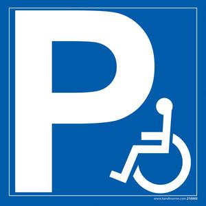 Panneau Parking PMR carré  (image 1)